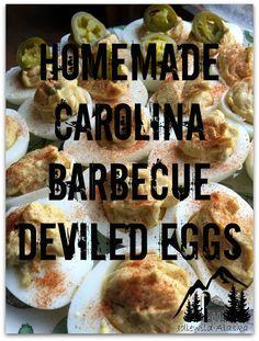 Homemade Carolina Barbecue Deviled Eggs - IdlewildAlaska