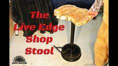 Live edge maple shop stool build - The workshop