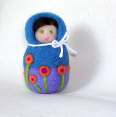 Made to Order Needle Felted Matryoshka Doll by smootynashley, $25.00