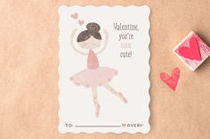 Tutu Cute Classroom Valentine's Day Cards by peetie design at minted.com