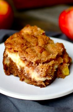 Cream Cheese Apple Coffee Cake