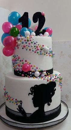 1st Birthday Cake For Girls, Disco Birthday Party, Cool Birthday Cakes, 13th Birthday, Birthday Ideas, Bubble Cake, Bubble Party, Beautiful Cakes, Amazing Cakes