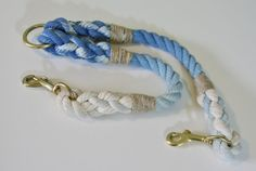 Ombre Rope Leash Coupler by GreenTroutOutfitters on Etsy