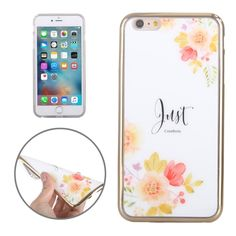 [$2.07] Electroplating Flowers JUST Pattern TPU Protective Case for iPhone 6 Plus & 6s Plus