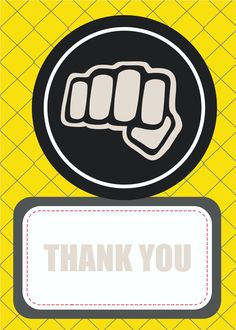 UFC MMA  Party, Thank you card.
