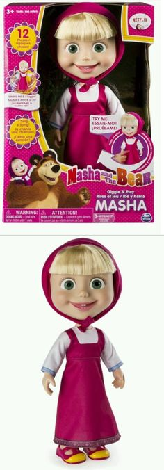 Dolls And Bears: Masha And The Bear 12 Inch Feature Doll - Masha - Brand New - Giggle And Play -> BUY IT NOW ONLY: $39.95 on eBay!