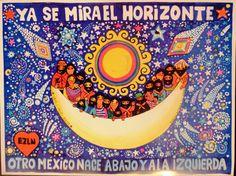 'Ya se mira el horizonte', Beatriz Aurora, 46 x 34 cm / EZLN, pintura, arte zapatista, zapatista movement, art
