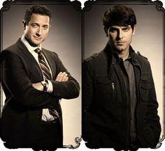 Sasha Roiz (Police Chief) and David Giuntoli (Detective and Grimm): The yummy men on Grimm. :-p