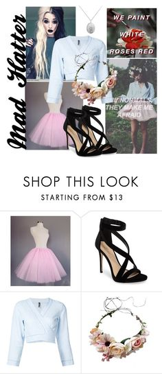"""Mad Hatter, Melanie Martinez"" by veggiegirl101 ❤ liked on Polyvore featuring Imagine by Vince Camuto, Lisa Marie Fernandez and melanie_crybaby"