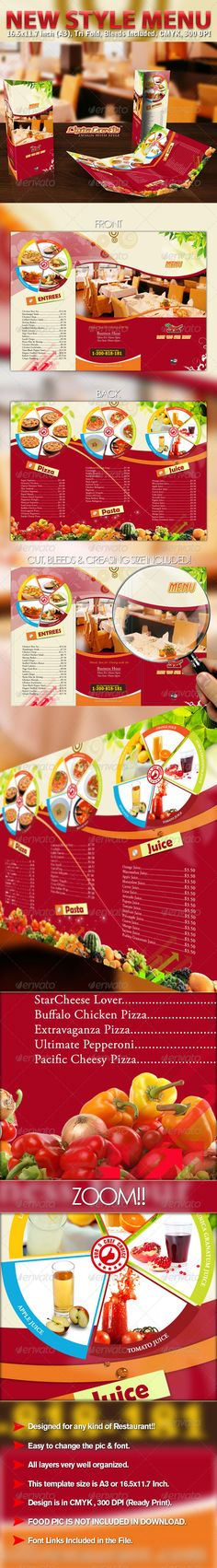 New Style Menu Informational Brochure Template by ciptagrafik. Print Templates, Resume Templates, Brochure Template, Follow Insta, Doodle Drawing, Powerpoint Tutorial, Menu Restaurant, Food Menu, Fonts