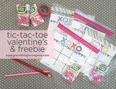 I made these game cards a few years ago and they're still one of my favorites. These simple tic-tac-toe game cards are a sweet idea for your kids' valentine's. Just add the tic-ta… Tic Tac Valentine, Valentine Gifts For Kids, Valentine Day Love, Valentine Day Cards, Valentines Diy, Printable Valentine, School Holiday Party, Holiday Fun, School Parties