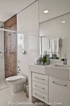 Construindo Minha Casa Clean: Top 10: Banheiros Modernos Pequenos e Grandes para nos Inspirar!