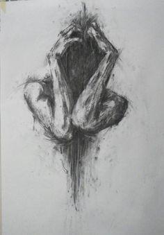 Ideas For Sad Art Photography Grief - Art Drawings Sad Drawings, Dark Art Drawings, Art Drawings Sketches, Drawing Art, Drawings Of Sadness, Drawing Ideas, Life Drawing, Woman Drawing, Tattoo Sketches