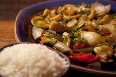 Frango Birmânia com curry tailandês e indiano