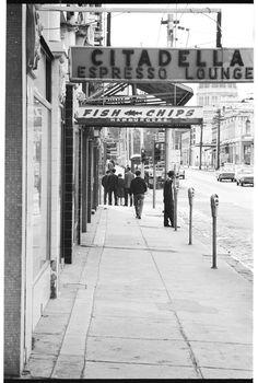 Gertrude St Sth side near the corner of Brunswick Street. Home History, Local History, Melbourne Victoria, Victoria Australia, Australian People, Brunswick Street, Melbourne Suburbs, The 'burbs, Old Photos