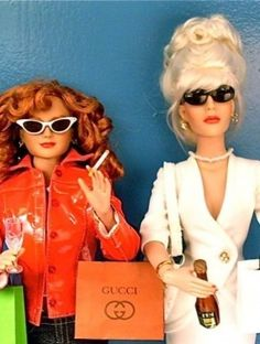 Sweetie Darling Sweetie - I want these! Ab Fab! Patsy Stone and Eddy Monsoon dolls Tonner Dolls