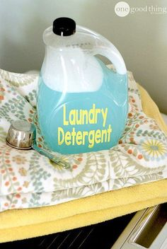 How To Make Your Own No-Grate Liquid Laundry Detergent | One Good Thing By Jillee | Bloglovin'