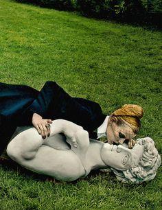 Elza Liuendijk in 'Tough Love' Photographer: Steven Klein Dress: Christian Dior S/S 2013 Vogue US July 2013