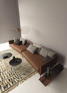 Leather sofa PILOTIS - @corsitzmoebel
