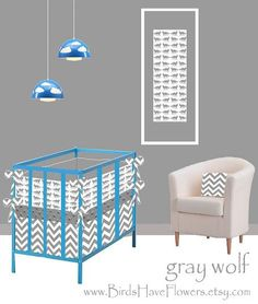 Gray Wolf baby bedding