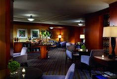 The Club Lounge at the Ritz-Carlton New York, Battery Park features delightful New York-centric food presentations.