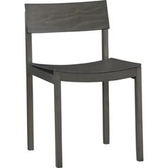 slide grey wood chair in dining chairs, bar stools | CB2