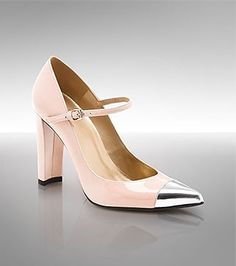 Stuart Weitzman Capsize Pump   I love it! The shoe is fabulous. It's a nude color, the heel is perfect height, and the metal tip is a fabulous embellishment.