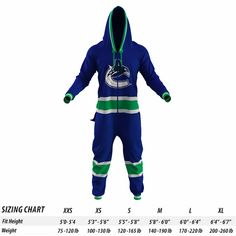 Vancouver Canucks NHL Onesie - Hockey Sockey