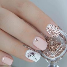 Cute Acrylic Nails, Cute Nails, Gel Nails, Stylish Nails, Trendy Nails, Blush Pink Nails, Nagellack Design, Studded Nails, Pedicure Nail Art