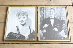 Vintage Picture Frame and Old Pictures Joan Blondell Kenny Baker