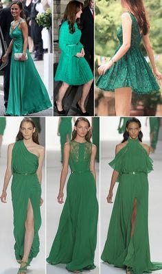 amando verde esmeralda.