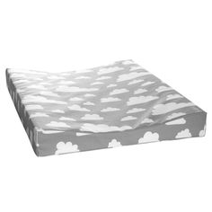 Baby Changing Mat . Clouds Grey