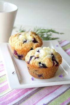 Blueberry Lavender Cream Cheese Muffins