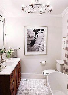 How to make a small bathroom bigger - Allison's Master Bath