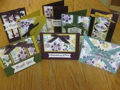 Handmade one-sheet wonder using Beautiful Bunch stamp set & new in-colors