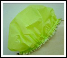 Waterproof Shower Cap Lime Double Sided Hair by web4soleil on Etsy, $14.50