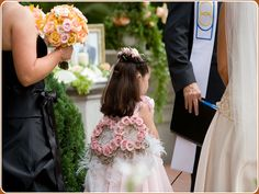 Flower Girl Rose + Feather Wings