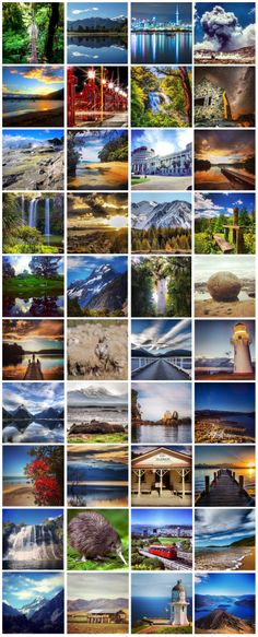 The Best of New Zealand. Click on each photo a few times and it enlarges.