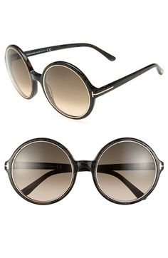 Free shipping and returns on Tom Ford 'Carrie' 59mm Sunglasses (Regular Retail Price: $425.00) at Nordstrom.com. A round, oversized silhouette heightens the eclectic, retro-chic vibe of gradient-lens sunglasses accented with logo-embellished temples.