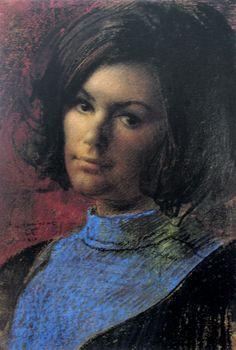 """portrait Annigoni"" WWW.pinterest.com/gord25/pietro-annigoni-paintings has a nice board of Annigoni painting."