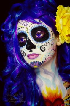 Hope Shots Photography Artist Unique Irish Model Megan S. Sugar Skull Face painting