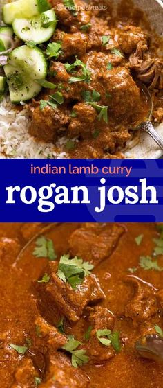 Rogan Josh - an Indian lamb curry to die for! A heady combination of intense spices in a creamy tomato curry sauce, the lamb is fall apart tender and packs a serious flavour punch. Lamb Recipes, Curry Recipes, Indian Food Recipes, Asian Recipes, Cooking Recipes, Rice Recipes, Cooking Tips, Easy Brunch Recipes, Easy Chicken Dinner Recipes