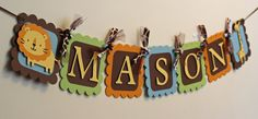 Jungle Safari Animal Name Banner Jungle Baby by AngiesDesignz, $20.00