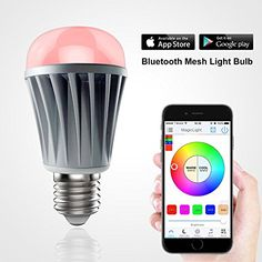 MagicHue Bluetooth Mesh LED Light Bulb  Control up to 30000 Smart Bulbs by Smartphone or Tablet  Dimmable Multicolored Color Changing Projection Lights  Perfect for Home Lighting Replacement