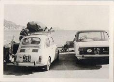 FO 364 FOTOGRAFIA D'EPOCA AUTO FIAT BIANCHE IN RIVA AL MARE - ANNI '70 | eBay