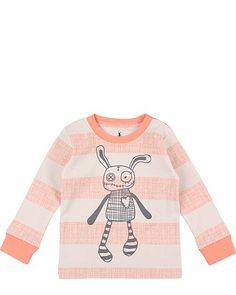 Small Rags: Süßes T-Shirt, dass besonders durch das niedliche Front-Motiv auffällig ist. http://www.mawaju.de/small-rags-langarmshirt-real-muted-clay-60080-2020.html