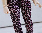$5 BJD / Dollfie LITTLEFEE/YOSD sized Pink Leopard leggings