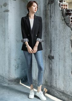 Casual Work Outfits, Professional Outfits, Classy Outfits, Pretty Outfits, Casual Asian Fashion, Korean Fashion Trends, Korea Fashion, Girls Fashion Clothes, Teen Fashion Outfits