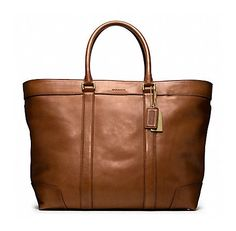 Coach Bleecker Legacy weekend tote in fawn colour. [IN MY CLOSET]