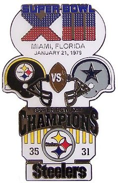 superbowl XIII pin   Super Bowl XIII (13) Oversized Commemorative Pin